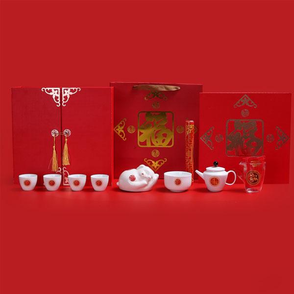 2020年新品高档陶瓷白瓷功夫茶具套装