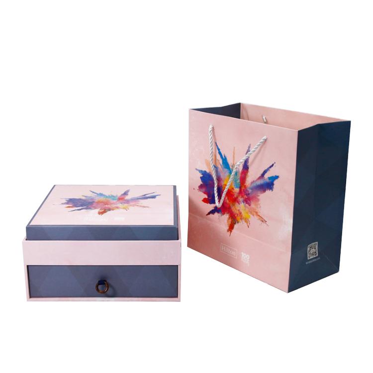 深圳中秋礼盒定制 月饼包装礼品盒 高档创意双层抽屉盒 月饼包装盒